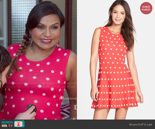 Bcbgmaxazria 'Jo' Jacquard A-Line Dress worn by Mindy Kaling on The Mindy Project