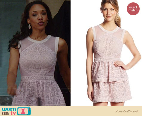 Bcbgmazaria Jocelyn Dress in Lavender Mist worn by Candice Patton on The Flash