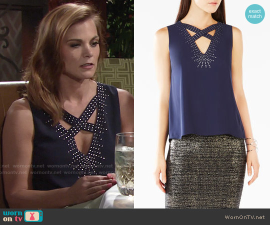 Bcbgmaxazria Joline Top worn by Gina Tognoni on The Young & the Restless