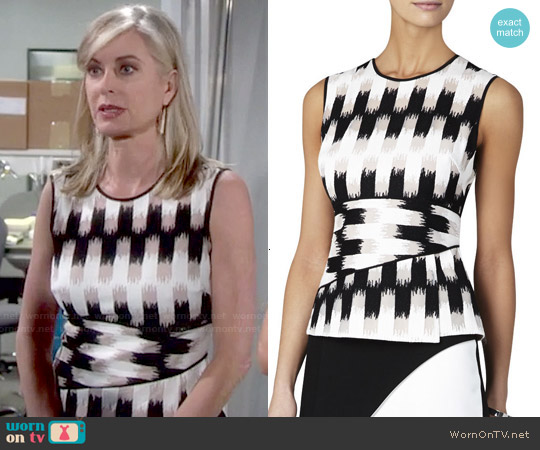 Bcbgmaxazria 'Jolyne' Peplum Top worn by Eileen Davidson on The Young & the Restless