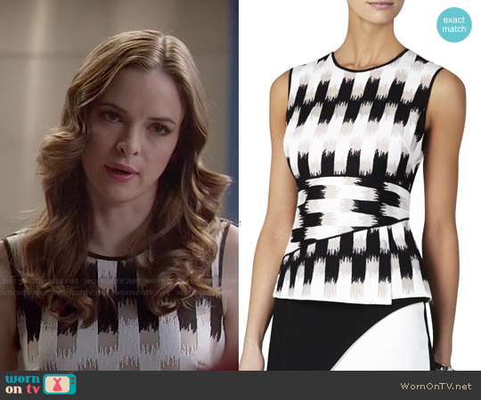 Bcbgmaxazria Jolyne Top worn by Danielle Panabaker on The Flash