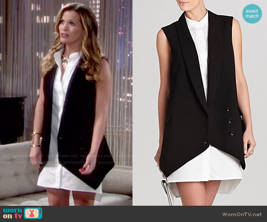 Bcbgmaxazria  'Justyne' Sleeveless Shirt Dress worn by Melissa Claire Egan on The Young & the Restless