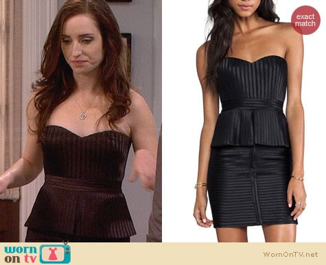 Bcbgmaxazria Karina Strapless Dress worn by Zoe Lister Jones on FWBL