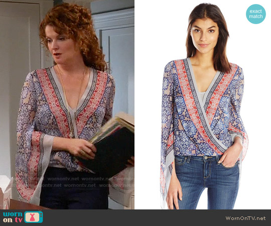 Bcbgmaxazria Kasia Top in Cobalt Blue worn by Rebecca Wisocky on Devious Maids