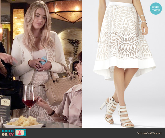 Bcbgmaxazria Keary Burnout Lace Skirt worn by Hanna Marin on PLL