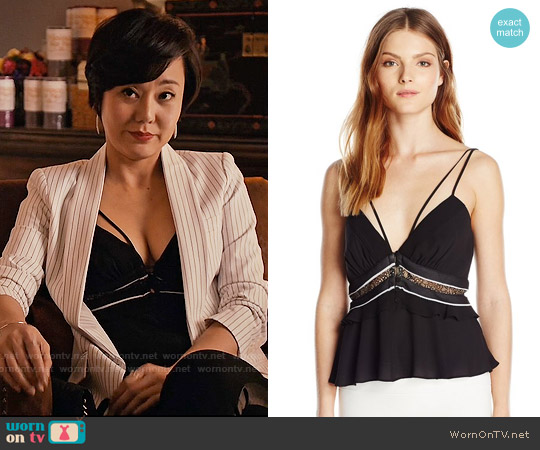 Bcbgmaxazria Kensey Top worn by Yunjin Kim on Mistresses