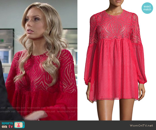 Bcbgmaxazria Kitra Dress worn by Melissa Ordway on The Young & the Restless