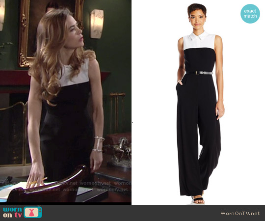 Bcbgmaxazria Laryssa Jumpsuit worn by Amelia Heinle on The Young & the Restless