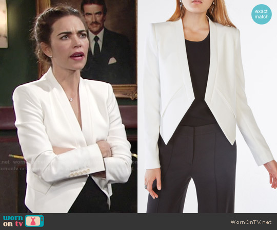 Bcbgmaxazria Lloyd Jacket in White worn by Amelia Heinle on The Young & the Restless