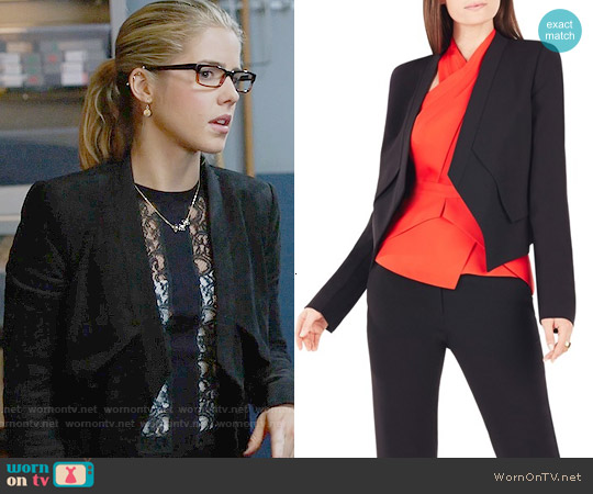 Bcbgmaxazria Lloyd Jacket worn by Emily Bett Rickards on Arrow