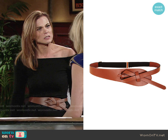 Bcbgmaxazria Looped Faux Leather Belt worn by Phyllis Newman on The Young & the Restless