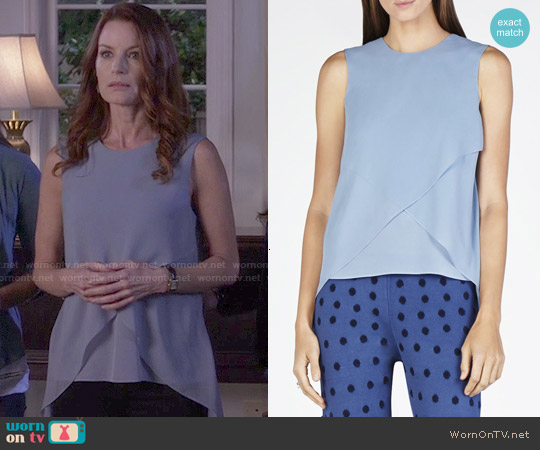 Bcbgmaxazria Lorielle Top worn by Laura Leighton on PLL