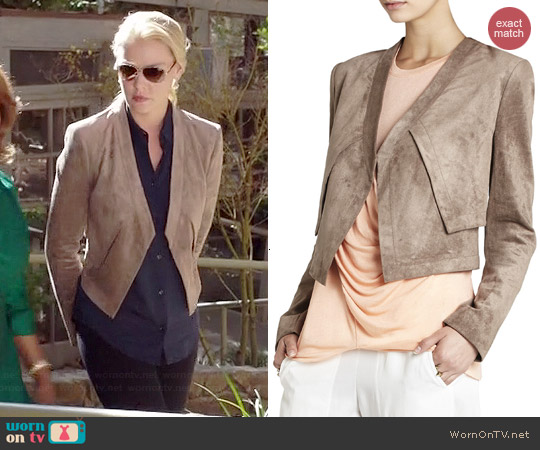 Bcbgmaxazria Luke Faux Suede Jacket worn by Katherine Heigl on State of Affairs