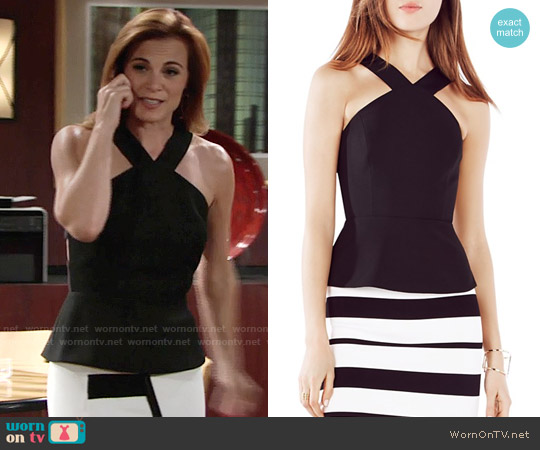 Bcbgmaxazria Makenlee Top worn by Gina Tognoni on The Young & the Restless
