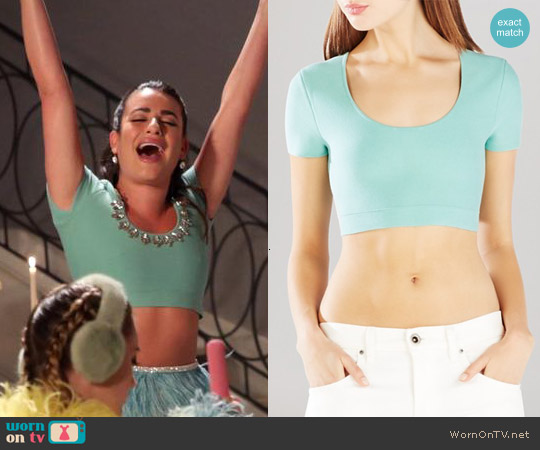 Bcbgmaxazria Maressa Crop Top worn by Lea Michele on Scream Queens