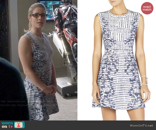 Bcbgmaxazria 'Melina' Ikat Flounce-Hem Dress worn by Emily Bett Rickards on The Flash