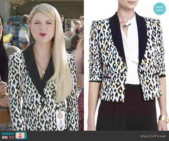 Bcbgmaxazria 'Milan' Cutout-Back Jacket worn by Bailey Buntain on Faking It