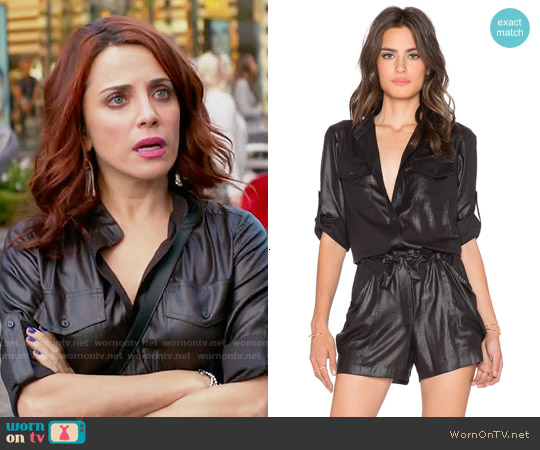 Bcbgmaxazria Minna Romper worn by Alanna Ubach on GG2D