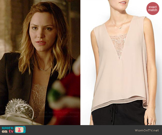Bcbgmaxazria Mishelle Top in Bare Pink worn by Katharine McPhee on Scorpion