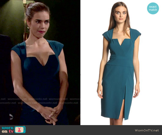 Bcbgmaxazria Moss Dress worn by Amelia Heinle on The Young & the Restless
