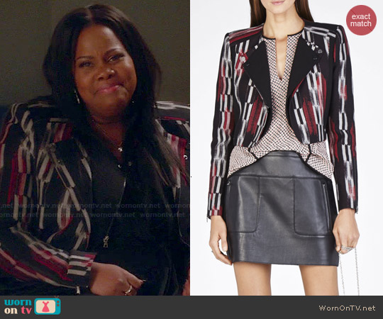 Bcbgmaxazria Nathan Double Lapel Jacket worn by Amber Riley on Glee