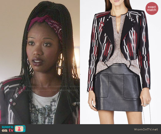 Bcbgmaxazria Nathan Double Lapel Jacket worn by Xosha Roquemore on The Mindy Project