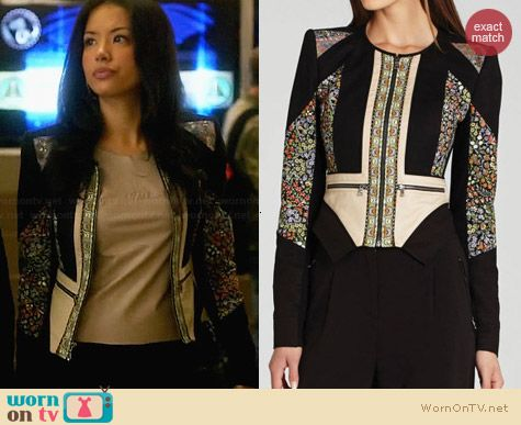 Bcbgmaxazria Neil Jacket worn by Stephanie Jacobsen on Star-Crossed