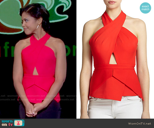 Bcbgmaxazria Remmie Top worn by Karla Mosley on The Bold & the Beautiful