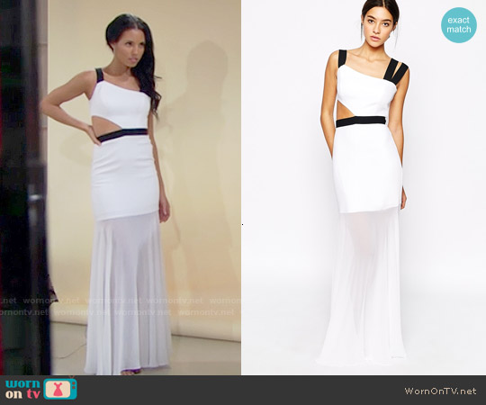 Bcbgmaxazria Roxana Gown worn by Felisha Cooper on The Bold & the Beautiful