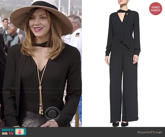 Bcbgmaxazria Sabrinah Jumpsuit worn by Katharine McPhee on Scorpion