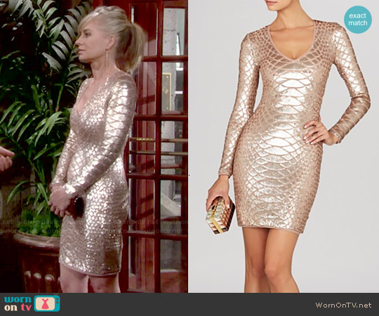 Bcbgmaxazria Sabryna Python Dress worn by Eileen Davidson on The Young & the Restless