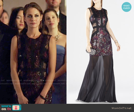 Bcbgmaxazria Shawna Gown worn by Willa Holland on Arrow