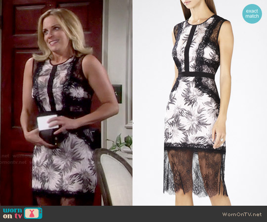 Bcbgmaxazria Shawna Lace Applique Dress worn by Kelly Sullivan on The Young & the Restless