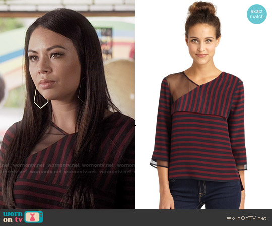 Bcbgmaxazria Skyla Top worn by Janel Parrish on PLL
