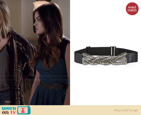 Bcbgmaxazria Twist Stone Chain Waist Belt worn by Lucy Hale on PLL