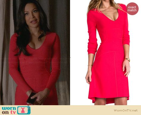 Bcbgmaxazria Sydney Dress worn by Naya Rivera on Glee