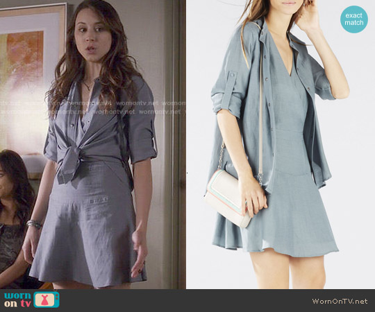 Bcbgmaxazria Tamera Two Layer Dress worn by Troian Bellisario on PLL