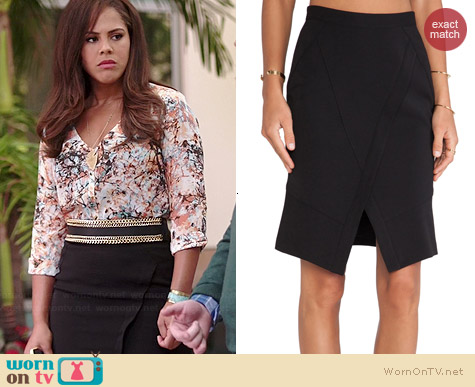 Bcbgmaxazria Taylon Skirt worn by Lenora Crichlow on A to Z