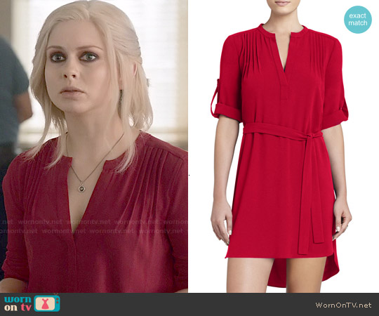 Bcbgmaxazria Tesa Dress in Ruby Red worn by Rose McIver on iZombie