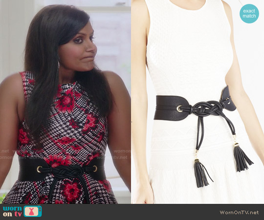 Bcbgmaxazria Tie Tassel Belt worn by Mindy Lahiri on The Mindy Project