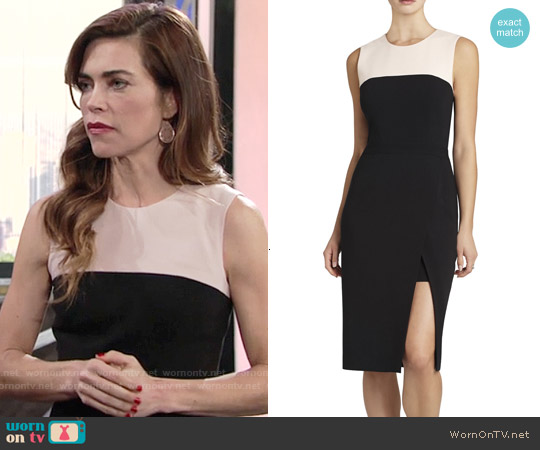 Bcbgmaxazria Tinna Colorblock Dress worn by Amelia Heinle on The Young & the Restless