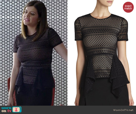 Bcbgmaxazria Viktoria Top worn by Casey Wilson on Marry Me