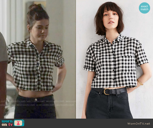 BDG Abbey Camp Button Down Shirt worn by Maia Mitchell on The Fosters