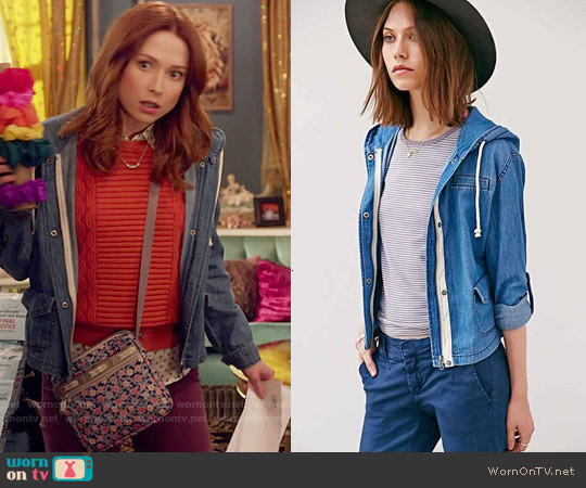 BDG Drapey Hooded Jacket worn by Kimmy Schmidt on Unbreakable Kimmy Schmidt