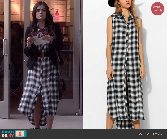 BDG Grunge Sleeveless Maxi Tunic worn by Lucy Hale on PLL