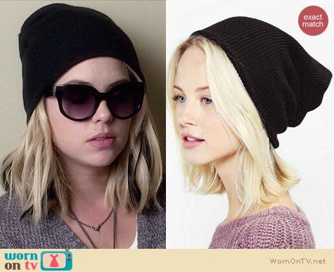 BDG Rib Knit Beanie worn by Ashley Benson on PLL