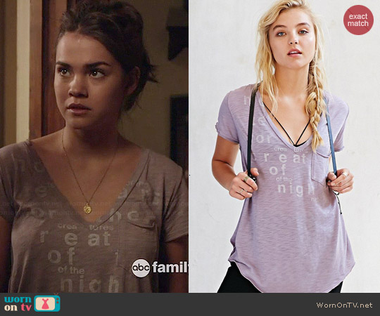 BDG Modal Slub Pocket Tee worn by Maia Mitchell on The Fosters