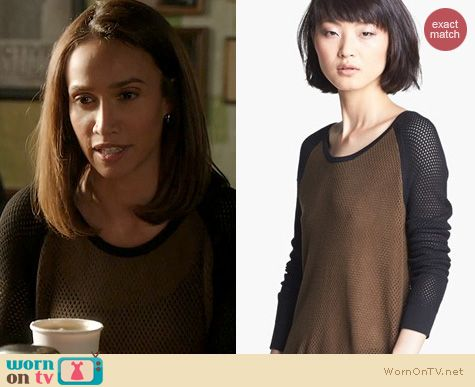 Beauty and the Beast Fashion: Rag & Bone Genevieve Pullover worn by Nina Lisandrello