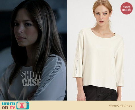Beauty and the Beast Fashion: Rag & Bone Stretch Silk Top worn by Kirstin Kreuk