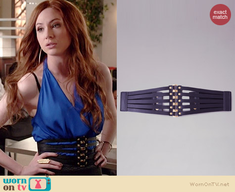 Bebe 5-Square Corset Belt worn by Karen Gillan on Selfie